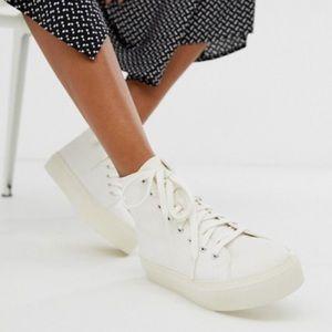 ASOS Shoes - ASOS Dakota Chunky Hi Top Off White Trainers